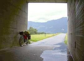 Die Schweiz im Regen bis Switzerland in the rain bis
