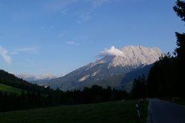Watzmann-Westwand von Ramsau-Taubensee west face of Mount Watzmann seen from Ramsau