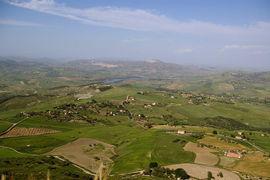 Panorama vom Felsen Calascibettas Panorama viewed from Calascibetta rock Leonforte - Assoro