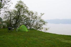 Simssee Lake Simssee near Rosenheim / Lake Chiemsee