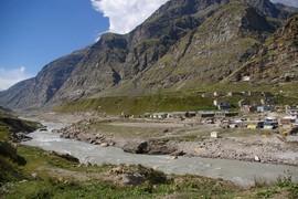 Chandra Valley Chandra River Khoksar - Khoksar Gompa