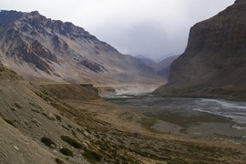 Lingti confluence of Yunan and Tsarap rivers bordercrossing Ladakh (Jammu and Kashmir) Verwaltungsgrenze zu Ladakh