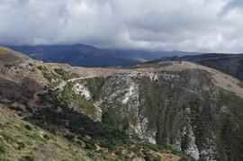 bei/near Chryssoskalitissa Pass zur Westküste ca. 530 m unnamed pass to west coast